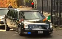 Obama's Car Gets High Centered