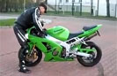 Guy Gives New Meaning to Crotch Rocket