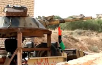 Libyan Rebels Fire the 