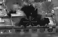Clear FLIR Footage of Air Strikes