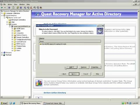 Recovery Manager for Active Directory - Comparison Reporting