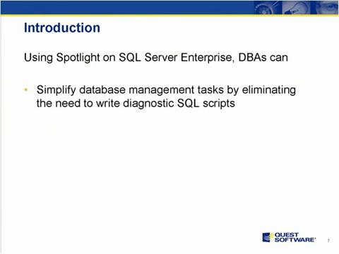 Spotlight on SQL Server Enterprise - Introduction