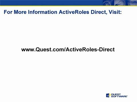 ActiveRoles Direct - Summary