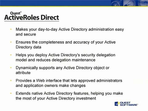Simplify Administration for Active Directory with ActiveRoles Direct