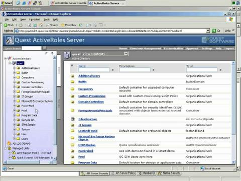 ActiveRoles Server - Web Interface