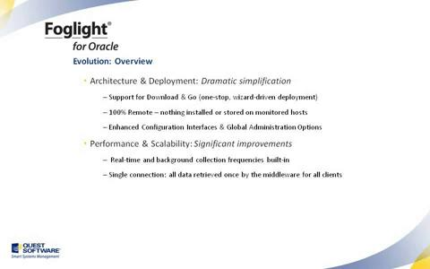 Foglight for Oracle - Introduction