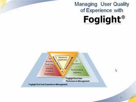 Foglight - User Experience Management