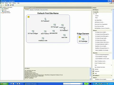 Spotlight on Messaging - Management Console - Topology Viewer