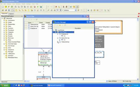 Toad Data Modeler - Version Manager