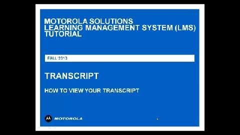 LMS Tutorial Transcript