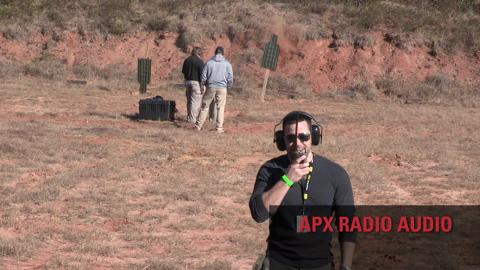 Gunfire Noise Suppression Demo with APX P25 Portable Radio