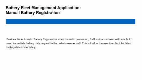 How to Configure Battery Management Application