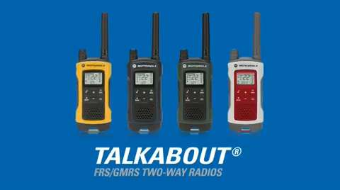 You're Ready to Go with Motorola's TALKABOUT Two-Way Radios