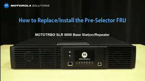 SLR 8000 - Replace and Install the Pre-Selector FRU