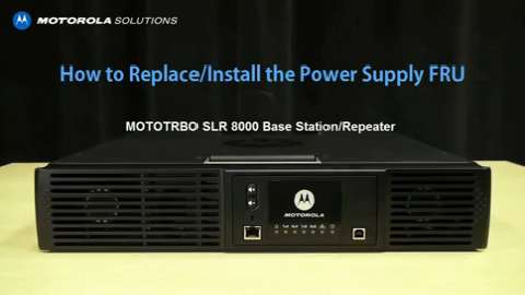 SLR 8000 - Replace and Install Power Supply FRU