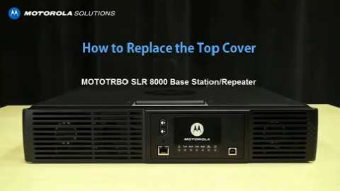 SLR 8000 - How To Replace the Top Cover