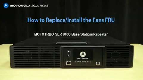 SLR 8000 - Replace and Install the Fans