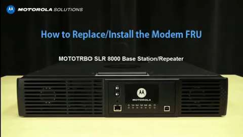 SLR 8000 - Replace and Install the Modem FRU