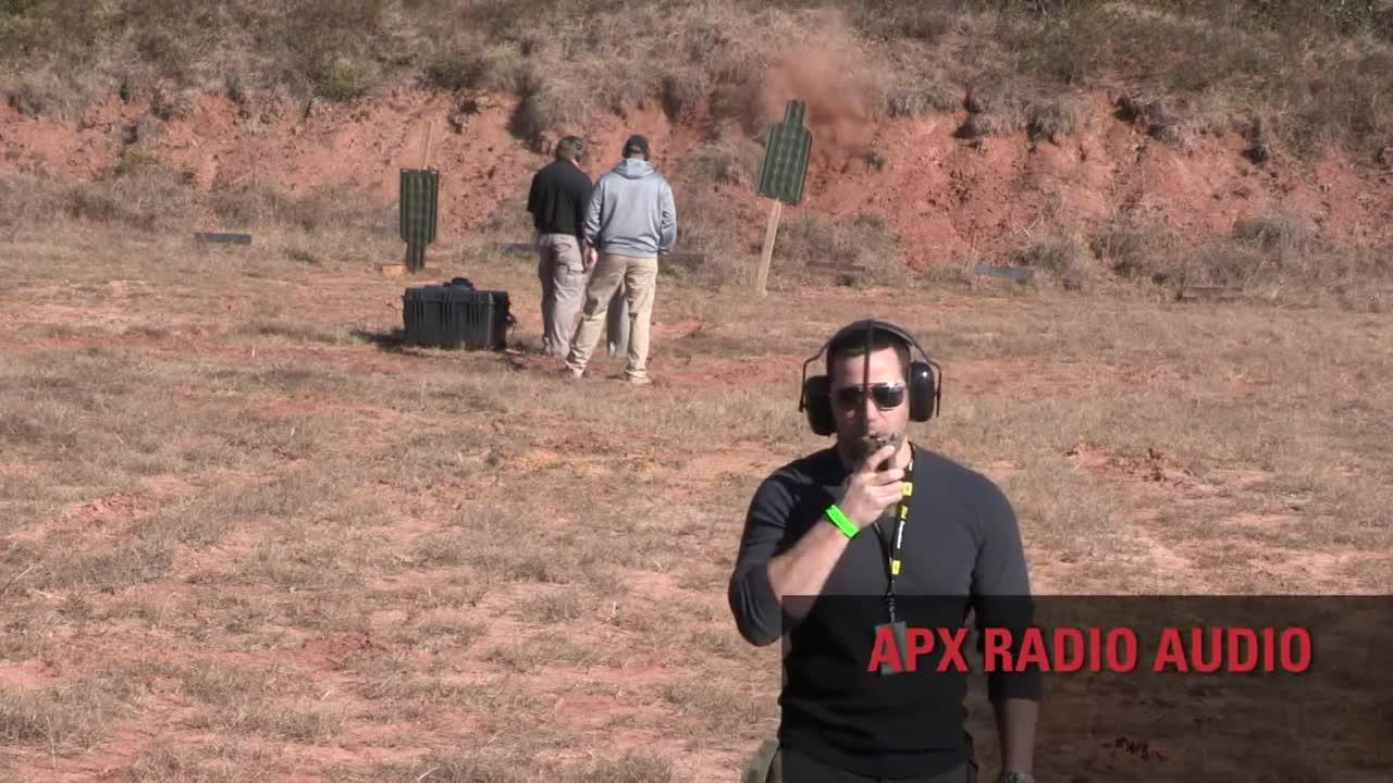 APX Audio Noise Suppression Demo During Live Gunfire