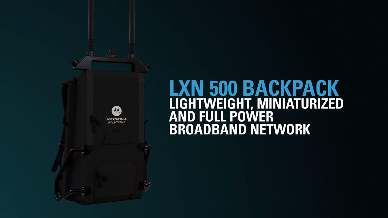 LXN 500 LTE Ultra Portable Infrastructure Backpack Overview