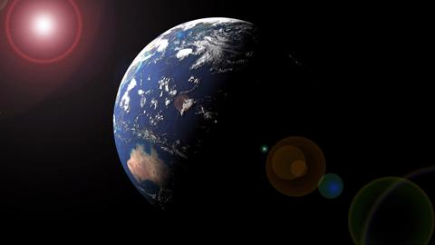Earth Space Lens Flare