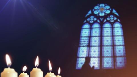 Candles Stain Glass